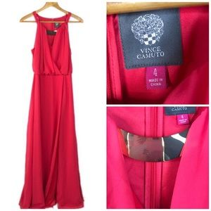 Vince Camuto Pink Coral Sleeveless Maxi Dress